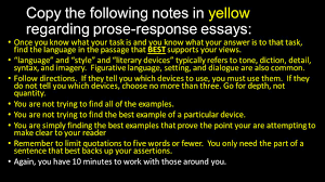 how to prose response essays copy the following notes in yellow  3 copy
