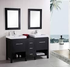 modern bathroom furniture sets. Design Element New York (double) 60.6-Inch Modern Bathroom Vanity Set - Espresso Furniture Sets