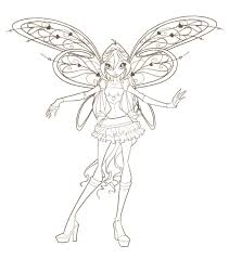 Free Printable Valentine Coloring Pages Winx