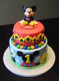 Baby Mickey Mouse Edible Cake Decorations Mickey Mouse First Birthday Cupcake Toppers Cake