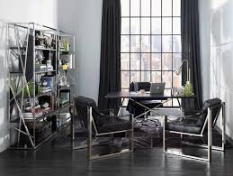 stylish home office space. fresh and stylish reading space decorating ideas wood flooring modern style black curtain office with decoration home