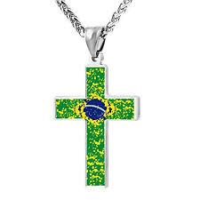 j cross pendant necklace belgium flag religious jewelry for men and women