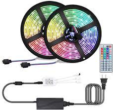 Led Strip Lights Attuosun 32 8ft 10m Led Rope Lights Smd5050 300leds Rgb Color Changing Led Light Strip Kit With Sponge Adhesive 44key Ir Remote