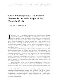 economic crisis essay economics essays economic essay essays on  publication crisis and responses the federal reserve in the publication crisis and responses the federal reserve