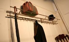 Long Coat Rack Fascinating Long 32 Sliding Hook French Art Deco Brass Hat And Coat Rack For