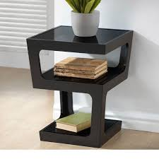 clara modern tall black 3 tiered end table free contemporary side tables ireland