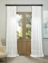 ginko white embroidered crewel faux linen curtain slwe4351a 96 fauxlinencurtain