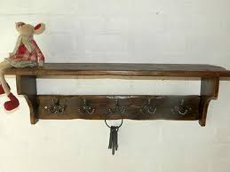 Country Style Coat Rack Reclaimed wood Hat Coat Rack with shelf Cottage Country style with 86