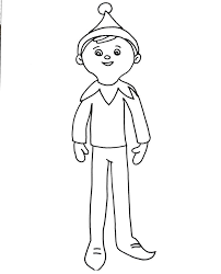 Coloring Page Elf Shelf Elf Coloring Page My Cup Overflows On The