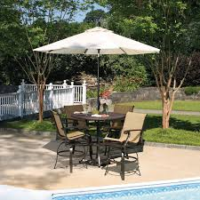 outdoor dining sets with umbrella. Patio Table Chairs Umbrella Set Lovely Furniture Sets Bar Height Among White Outdoor Dining With