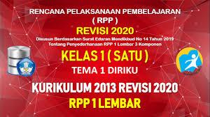 Pada rpp 1 lembar kelas 5 sd k13 revisi 2020 ini admin bagikan secara gratis untuk anda yang memerlukannya, sehingga anda tidak perlu kawatir bisa langsung download rpp 1 lembar ini baca juga : Rpp 1 Lembar Kelas 1 Tema 1 Sd Mi Kurikulum 2013 Revisi 2020 Tahun Pelajaran 2020 2021 Datadikdasmen