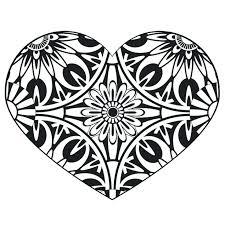 heart design coloring pages. Beautiful Coloring Heart Design Coloring Pages Complicated  Doodle Page Printable  To Heart Design Coloring Pages