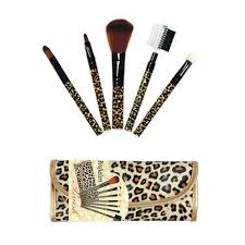profusion makeup brush 7 pieces set pouch in leopard color b 899 beauty