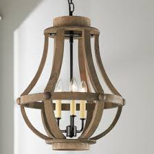 lighting wood. Rustic Wood Basket Lantern - Small Lighting