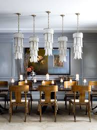 eclectic lighting. Eclectic Dining Room With Pendant Light, Italian Chandelier Of Tiered Crystal And Gilt Metal, Lighting