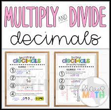 Multiply Divide Decimals Poster Teks 5 3e 5 3g