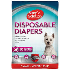Simple Solution True Fit Disposable Dog Diapers for Female Dogs | Super Absorbent with Wetness Indicator Small 30 Count - Walmart.com