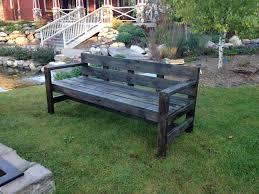 rustic outdoor wooden seating