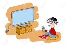 boy watching tv clipart. boy watching tv, cartoon stock photo - 12251019 tv clipart c