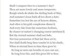 on sonnet shakespeare essay on sonnet 18 shakespeare