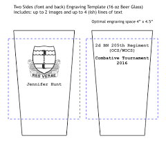 Glass Template Templates To Customize Your Pint Glass
