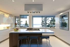 contemporary house furniture. White Interior Color Kitchen Furniture Decorating Ideas Contemporary House In Canada And Island With Stove S