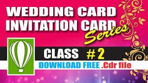 wedding card 2 in corel cdtfb corel draw in hindi urdu