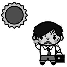 かわいい夏と汗の無料イラスト商用フリー オイデ43