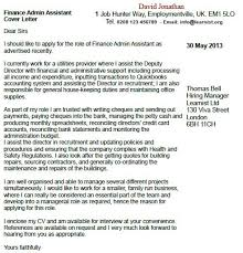 Finance Admin Assistant Cover Letter Example Learnist Org