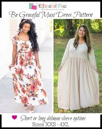 Dress Sewing Patterns Gorgeous Women's Be Graceful Maxi Dress Pattern Ellie and Mac Digital