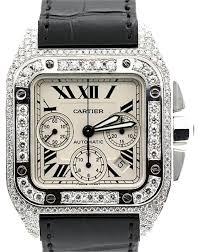 cartier men s cartier santos diamond watch 66% off retail cartier men s cartier santos diamond watch