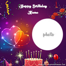 create a happy birthday card with name