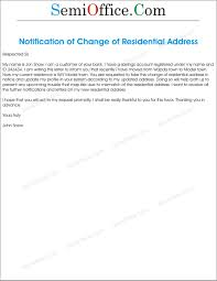 011 Template Ideas Change Of Address Letter Templates