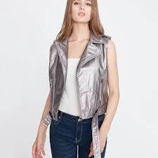 womens leather vest motorcycle pu leather female vest fashion sleeveless jacket plus size turn collar pockets