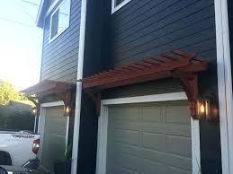 door pergola garage door pergola garage door pergola with custom cedar bracket garage door pergola pictures door pergola