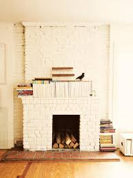painting brick fireplace white 15 gorgeous painted brick fireplaces s decorating design pictures