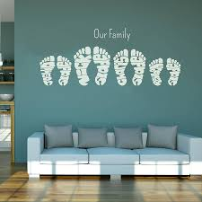>personalised footprint wall art stickers by name art  personalised footprint wall art stickers