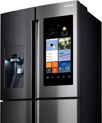 samsung tv refrigerator. haven\u0027t you been asking yourself, \u201cwhy can\u0027t my home refrigerator have a 21.5 inch hd touchscreen so i can see photos of what\u0027s inside without opening the samsung tv s