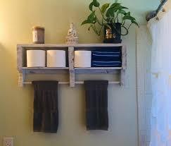 towel bar rustic over toilet storage