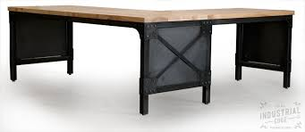 l shaped desk wood. Contemporary Desk Custom Made Modern L Shaped Ash Top And Steel Desk Wood Printer Stand On Desk H