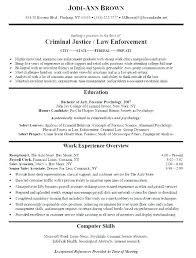 Sample Criminal Justice Resumes Criminal Law Clerk Resume Sample Professional Resume