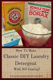 how to make classic diy laundry detergent with no grating