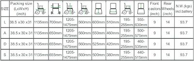 Standard Wheelchair Size Chart Buy Angel Standing Electric Power Wheelchair Healthdexter Com