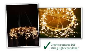 string light chandelier