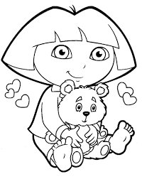 Awesome Dora Coloring Pages Wallpaper For