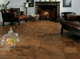 ... Living Room Tile Floor Ideas Interesting Design Using Brown Leather  Armchairs And Rectangular Brown Fireplace Wooden ...