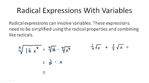 practice radical expressions with variables overview