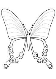 子供向けの蝶の塗り絵
