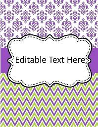 Free Editable Binder Covers And Spines Free Binder Cover Template Editable Covers Printable And