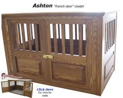 furniture denhaus wood dog crates. ashton wooden dog crate with french doors furniture denhaus wood crates